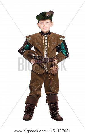 Boy Dressed As Hunter