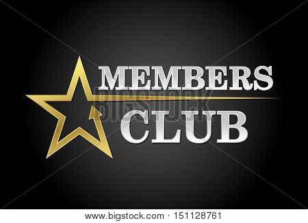 Members club exclusive access in gold and silver