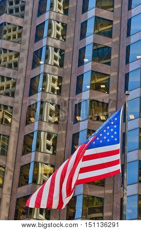 San Francisco; USA - july 13 2016 : bank of America in the city center