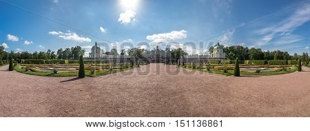 SAINT- PETERSBURG, RUSSIA - September 06, 2015: Oranienbaum is a Russian royal residence located on the Gulf of Finland west of Saint Petersburg. The Palace ensemble and the city centre are UNESCO World Heritage Sites