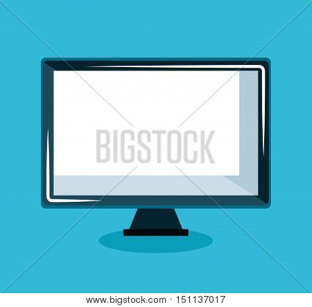 monitor computer display icon vector illustration design