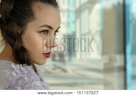 Portrait Of A Girl With A Pigtail