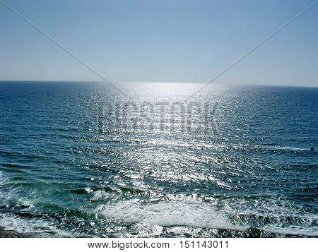 View of the Mediterranean in Shefayim Israel June 18 2006