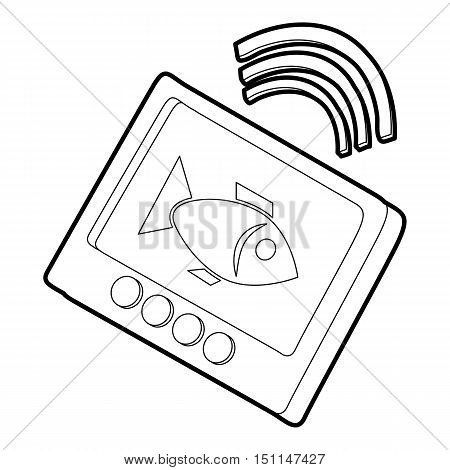 Echo sounder icon. Outline illustration of echo sounder vector icon for web