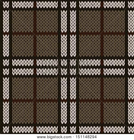 Knitting Seamless Pattern In Muted Warm Hues
