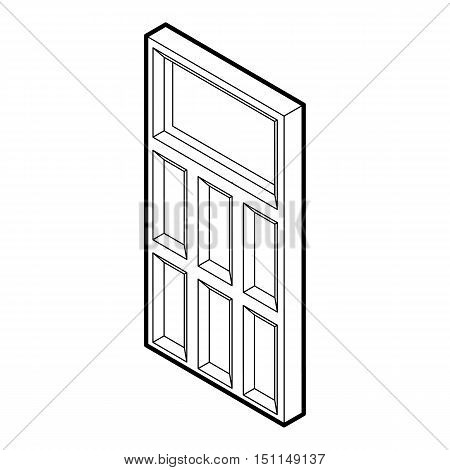 Door icon. Outline illustration of vector icon for web isolated on white background