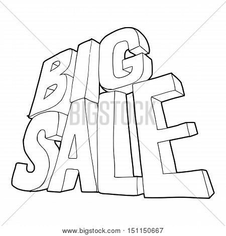 Big sale lettering icon. Outline illustration of big sale lettering text vector icon for web