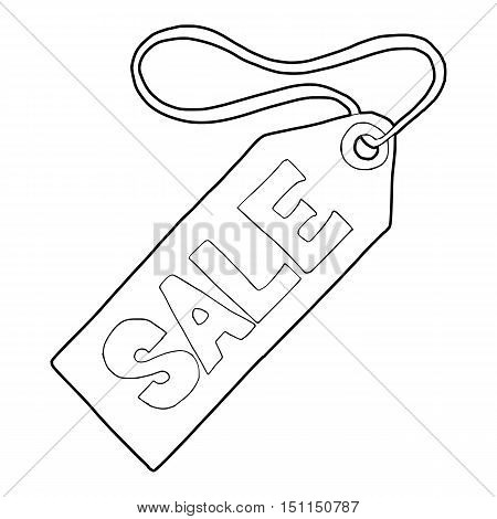 Sale tag icon. Outline illustration of sale tag vector icon for web