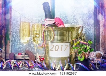 Champagne New Year's Eve New Year 2017