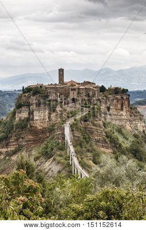 Civita is a village in the municipality of Bagnoregio in province of Viterbo in the Lazio region which is part of the most beautiful towns in Italy famous for being called