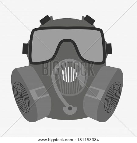 Respirator Icon On White Background
