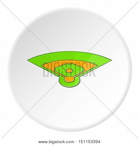 Baseball field icon. cartoon illustration of baseball field vector icon for web
