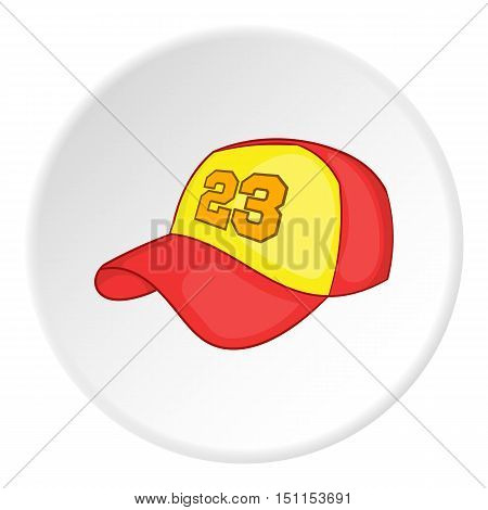 Baseball hat icon. cartoon illustration of baseball hat vector icon for web