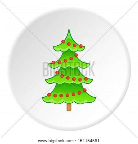 Christmas tree icon. cartoon illustration of christmas tree icon vector icon for web
