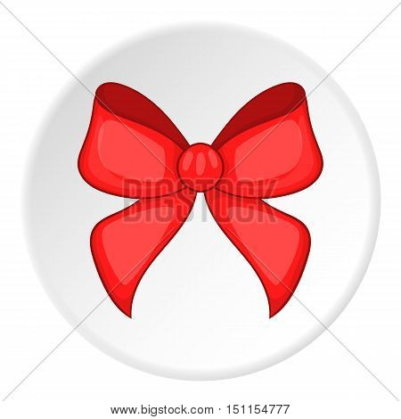 Red bow icon. cartoon illustration of red bow vector icon for web