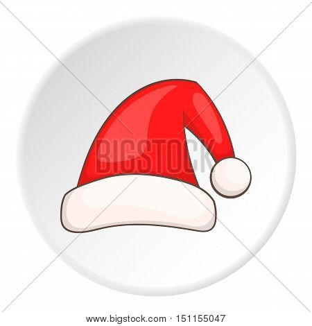 Red Santa hat icon. cartoon illustration of red Santa hat vector icon for web