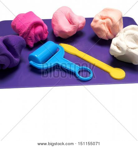 Colorful clay. Plasticine. Emo