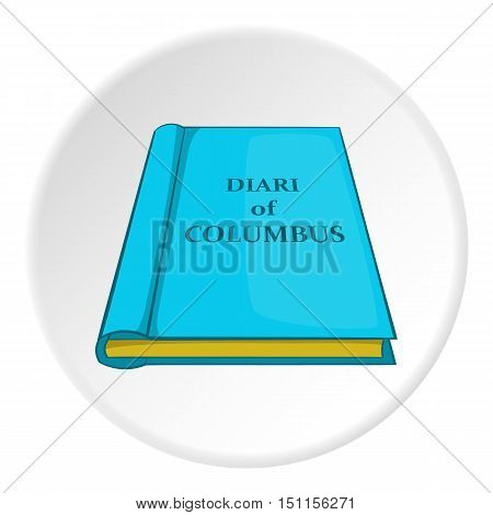Columbus diary icon. cartoon illustration of columbus diary vector icon for web