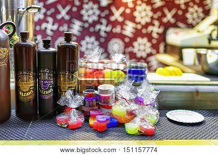 Riga Black Balsam And Sweets At The Riga Christmas Market