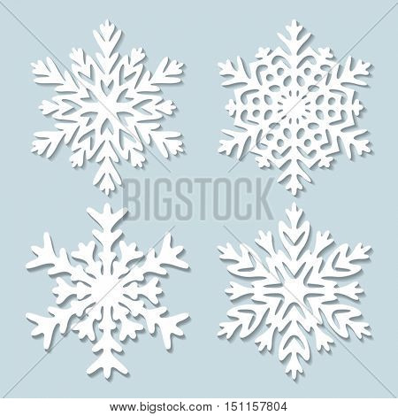 Decorative abstract snowflake. Vector illustrayion