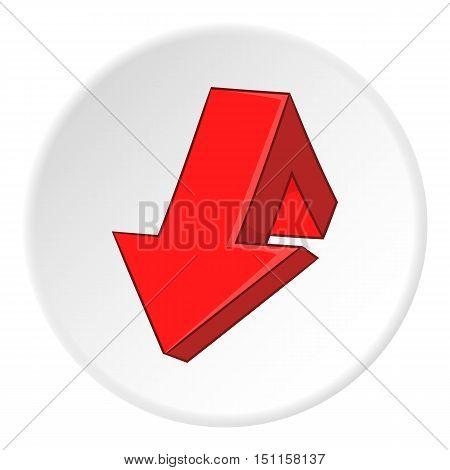 Red broken arrow icon. cartoon illustration of red broken arrow vector icon for web