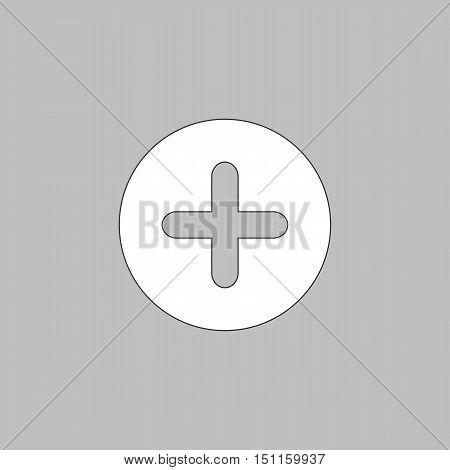 Plus Icon Vector. Flat simple color pictogram