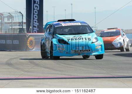 Blake Bilko Williams 22, Drives A Grc Lites Car, During The Red Bull Global Rallycross Championship