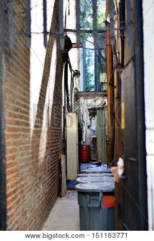 New York Alley Between Buildings