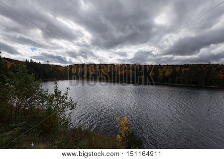 Algonquin Provincial Park in the fall season