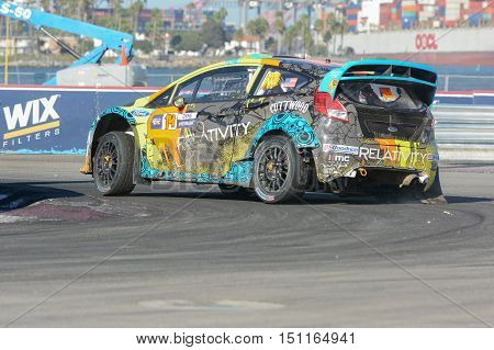 Austin Dyne 14, Drives A Ford Fista St Car, During The Red Bull Global Rallycross