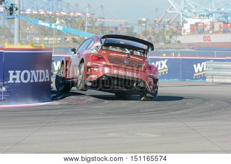 Scott Speed 41, Drives A Volkswagen Beetle Car, During The Red Bull Global Rallycross