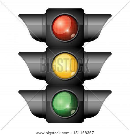 traffic light on white background. Vector illustration
