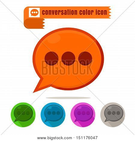 icon conversation colorful design vector on white background
