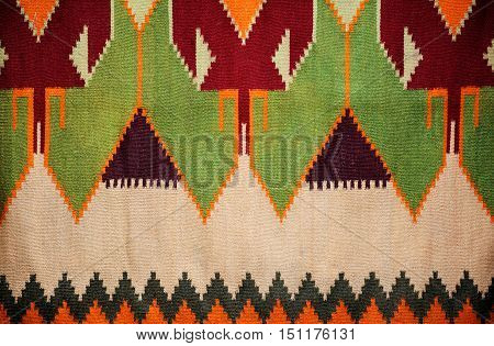 Colorful Hand Made Motley Rug Or Carpet