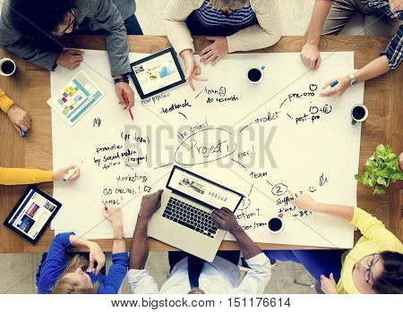 People Meeting Brainstorming Business Plan Startup Concept