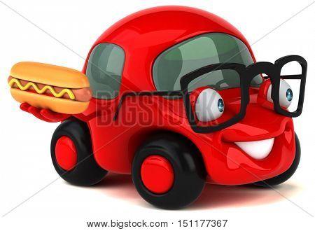 Fun car - 3D Illustration