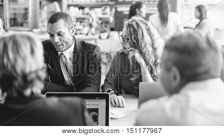Business People Meeting Brainstorming Talking Discussion Concept