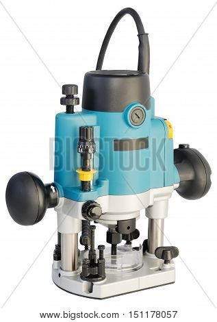 Electrical router (milling machine) isolated on the white