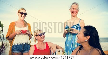 Women Talking Discussion Outdoors Concept