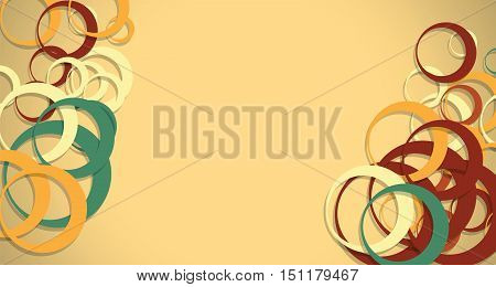 abstract colored circles horizontal background vector design illustration