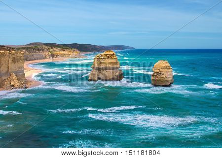 Twelve Apostles at Great Ocean Road Australia