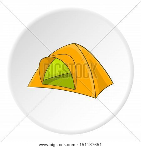 Yellow tent icon. artoon illustration of yellow tent vector icon for web