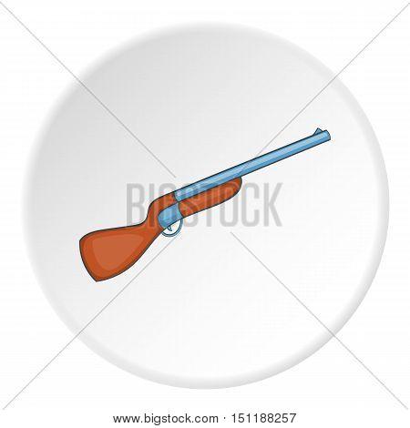 Hunting shotgun icon. artoon illustration of hunting shotgun vector icon for web