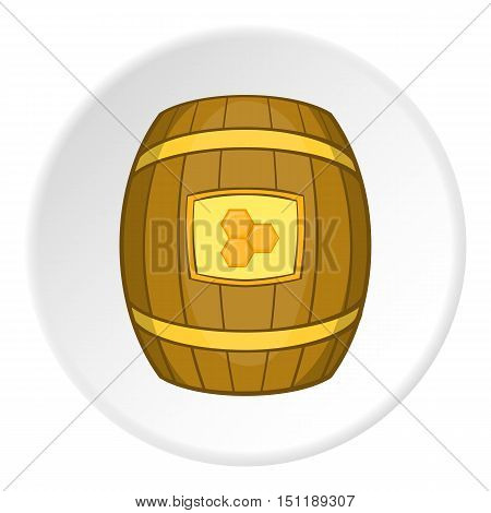 Barrel with honey icon. artoon illustration of barrel with honey vector icon for web