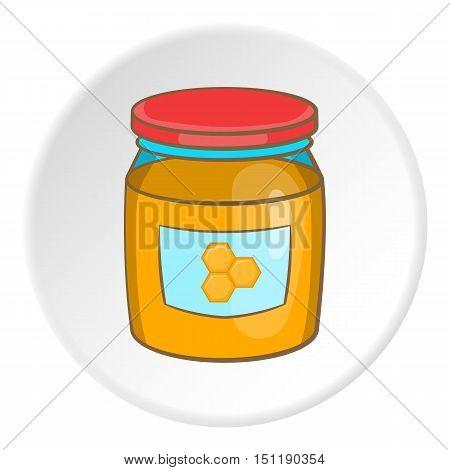 Honey bank icon. artoon illustration of honey bank vector icon for web
