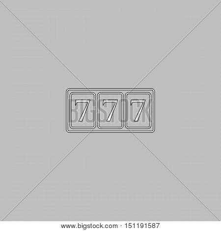 Fortune Simple line vector button. Thin line illustration icon. White outline symbol on grey background