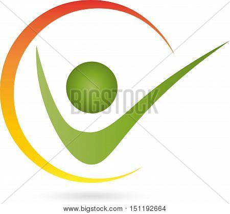 Human and circle, fitness, physiotherapy and naturopathic logo