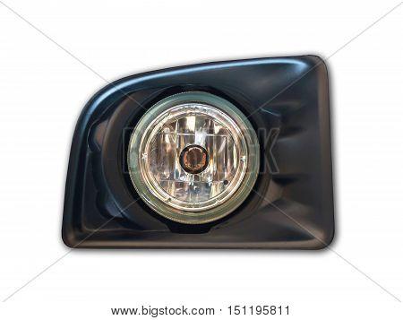 Car light on white for design background.