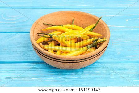 Yellow Hot Peppers In Bowl