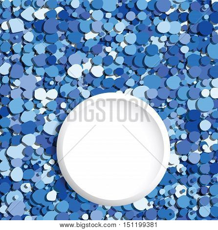 blue bubbles abstract background with place for text vector design illustration